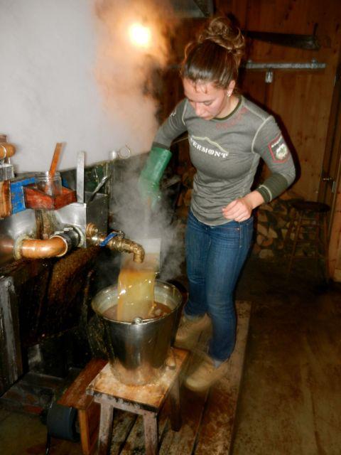 Guest boiler, Gabriela, in her designer suagarhouse apparel
